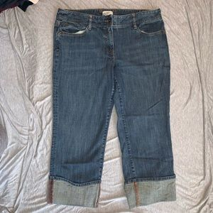 LOFT Marisa Jeans Capri's